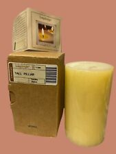 Longaberger Tall Pillar Candle Vanilla Spice W/Papers New