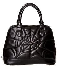 Banned Apparel Malice Rockabilly Gothic Spider Web Black Handbag