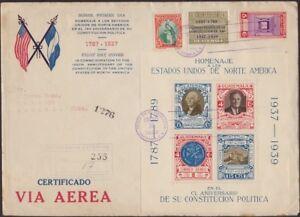 GUATEMALA, 1938. First Day Souvenir Sheet C92, Havana