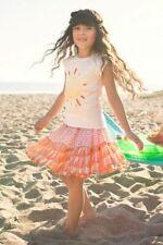 Nwt Pink Chicken Hello Sunshine Top & Tiered Skirt Pink Orange 2 Pc Set Girls 2