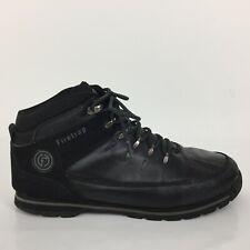 Firetrap Black Leather  High Top Ankle Chukka Rino Boots Men Size UK 11 Eur 46