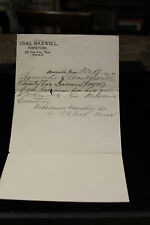 1904 Chas. Maxwell Furniture  Woodlawn Cemetery Receipt Knoxville Tennessee