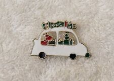 House White Car Presents G X18Ne Classic Christmas Pin Brooch Going To Grandma'S