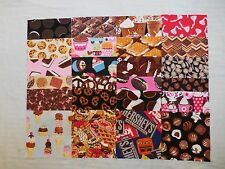 "24 I SPY 6 1/2"" ALL CHOCOLATE candy and desserts novelty fabric quilting squares"