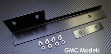 Black Front Bumper License Plate Relocator Bracket Holder JDM Bar for GMC