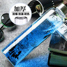 Anime Hatsune Miku Cosplay Clear Drink Glass Cup Sports Cycling Water Bottles
