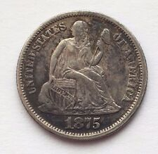 1875 SILVER SEATED LIBERTY DIME 10 CENTS COIN FREE SHIPPING