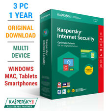 Kaspersky Internet Security MultiDevice 2018 3 PC 1 Jahr Europas Bestschutz!