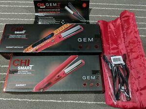 CHI Smart Gemz Titanium Rhodolite Hair Styling Iron & Travel Size & Pouch NEW