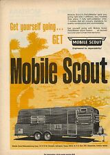 Original 1973 Mobile Scout Travel Trailer Magazine Ad