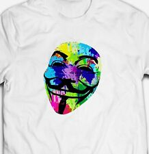 ANONYMOUS HACKER GUY FAWKES INTERNET ACTIVIST PROTEST 100% cotton T-shirt Tee