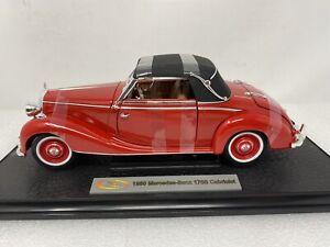 1/18 Signature Models 1950 Mercedes-Benz 170S Cabriolet Red  Part # 18323