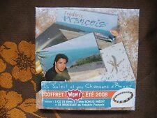 COFFRET FREDERIC FRANCOIS - CD 15 Titres+1 inédit Bonus+Le bracelet NEUF BLISTER
