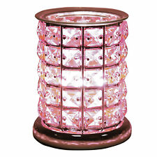 Touch Electric Aroma Wax Melt Burner Pink Crystal Diamond Style