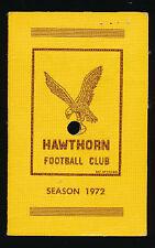 1972 Hawthorn Football Club Membership Season Ticket  Hawks