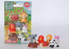 IWAKO Novelty Japanese Puzzle Erasers Rubbers - IWAKO Forest Animal Eraser Set