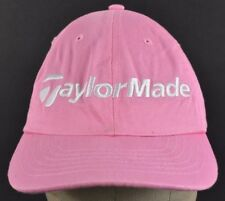 Pink Taylormade Golf Company Logo Embroidered Baseball hat cap Adjustable Strap