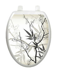Toilet Tattoo Vinyl Lid Cover Removable Reusable Cherry Blossoms 1084 USA