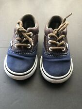 Boys Toddler Size 5 Vans Blue And Brown