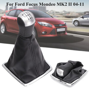 6 Speed Gear Shift Knob Stick Lever Gaiter Boot Cover For Ford Focus Mondeo MK2