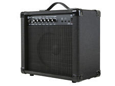 20-Watt 1x8 Combo Amplifier w/ Stereo Audio Speaker For Electric Guitar Black