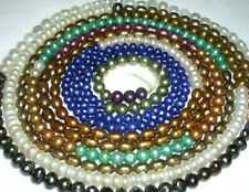 430 ASSORTED FRESH WATER PEARL BEADS VARIETY OF SHAPES COLORS SIZES 4mm-6mm