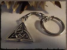 Porte clés Celtes Triquetra Monade métal argenté Triskell Bretagne