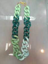 NWOT  Green Link Long Statement Necklace