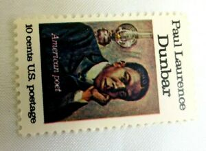 United States 10 Cents Paul Dunbar US Single Postage Stamp