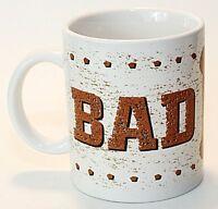 Houston Foods Co Ceramic Cup Mug Bad to the Bone Humor White Brown EUC