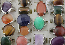 New Design Mixed Lots 30pcs Natural stone Multi Color Lady's Rings
