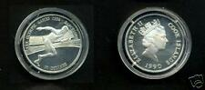 1990 Cook Is  Silver Proof $10 Olympics Runner