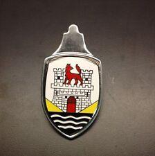 VW Beetle Hood Crest Emblem 52-62.  Yellow