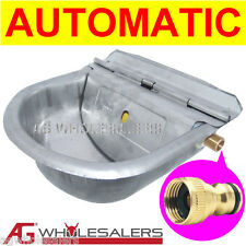 STAINLESS WATER TROUGH BOWL AUTOMATIC - DOG HORSE CHICKEN DRINKING