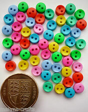TROPICAL ROUND 6mm Craft Buttons 1ST CLASS POST Tiny Small Doll Sewing Mini Baby