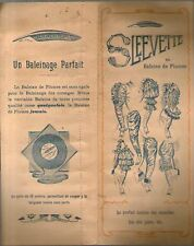 echantillon publicitaire mode SLEEVETTE EN BALEINE DE PLUMES manche juppe ancien