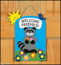 """Welcome Friends"" Door Sign Craft Kit 4 Kids ABCraft"