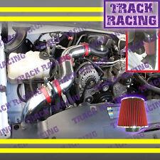 99 00-07 CHEVY SILVERADO GMC SIERRA 1500 4.3L V6 FULL COLD AIR INTAKE KIT Red