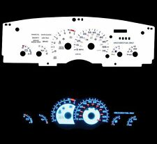 NEW 93-96 chevy Camaro Blue Indiglo Glow White Gauges 115 mph