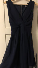 Izabel London Size 8, Blue, V-Neck Skater Dress