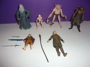 """The Hobbit An Unexpected Journey 3.75in 1/18 4"""" Action Figure & Accessories lot"""