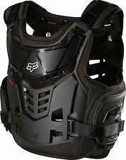 Fox MX Raptor Proframe LC Black Youth Chest Protector/Roost Guard/Deflector ATV
