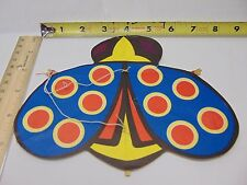 VINTAGE JAPAN MADE PAPER KITE SMALL CEILING HANGING LADY BUG BLUE-RED-YELLOW
