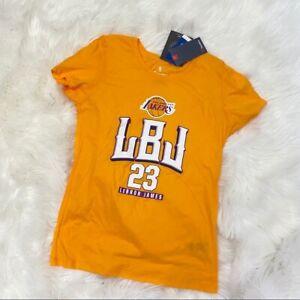 Fanatics LeBron James Los Angeles Lakers T-shirt LBJ Sz Lg Ladies Fit