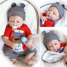 Full Body Silicone Reborn Baby Dolls Realistic Newborn Sleeping Boy Kids Gifts