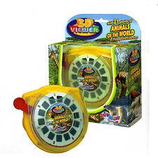 3D Viewer ANIMALS of the World Gift Set Box Stereo Zoo Safari Viewmaster 3 Reels