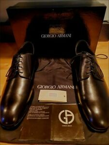 GIORGIO ARMANI BLACK LEATHER OXFORD MENS DRESS SHOES XGUB13 SIZE 45 BRAND NEW!!!