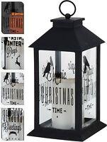 Large Christmas Lantern with LED Flickering Candle Light Christmas Decoration