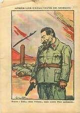 Caricature Anti-Communiste Staline Great Terror Purge Moscow 1937 ILLUSTRATION