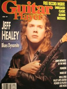 GUITAR PLAYER MAGAZINE AUGUST 1989 JEFF HEALEY ALLMAN BROTHERS RECORD! ENTWISTLE